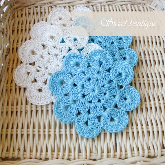 Crochet flower appliques Set of 10 Wedding by MSweetboutique, $20.00