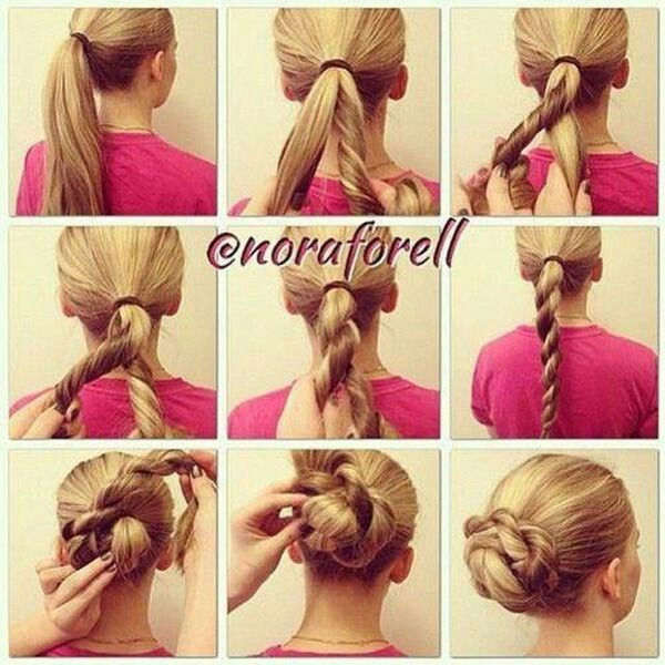 Quick  easy hair style