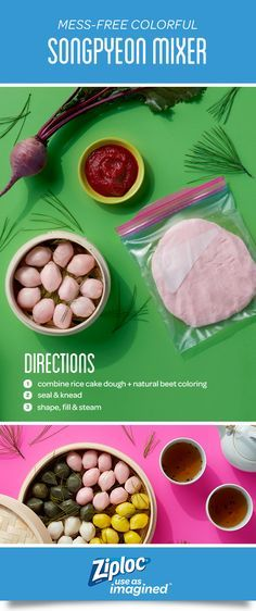 Create a colorful new dessert your family will love. The best part? Mixing and mashing inside the bag makes for a mess-free, stain-free process. Try this mixing technique to save your countertops and contain your dough and dyes. Easy Open Tabs are great for little hands, too! Ziploc®️️ brand seal top bags' strong seal helps prevents spills, so when you're done mixing the bags can rest safely on the counter.  This trick also works for Christmas cookies, sugar cookie cutouts or rainbow d