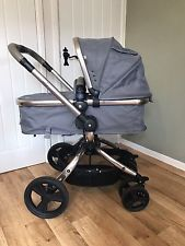 Mothercare Orb pram and pushchair grey with rose gold frame