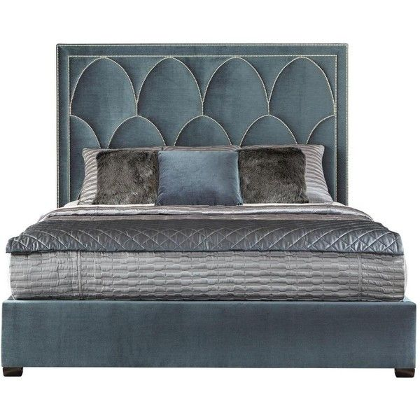 Regan Upholstered King Bed Bernhardt ($3,710) ❤ liked on Polyvore featuring home, furniture, beds, queen bed, upholstered king bed, queen bed platform, queen platform bed and king size platform bed