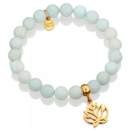 Błękitne jadeity z lilijką.  #bracelet #mokobelle #lilly #bransoletka #spring #fashion #collection #jewelry #jewellery #accessories #lightblue