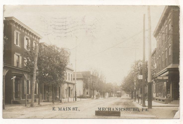 Valley Railways trolley on East Main Street, Mechanicsburg