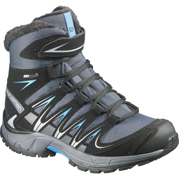 Salomon Kids' Jr. XA Pro 3D CS Insulated Waterproof Winter Boots, Size: 6.0, Gray
