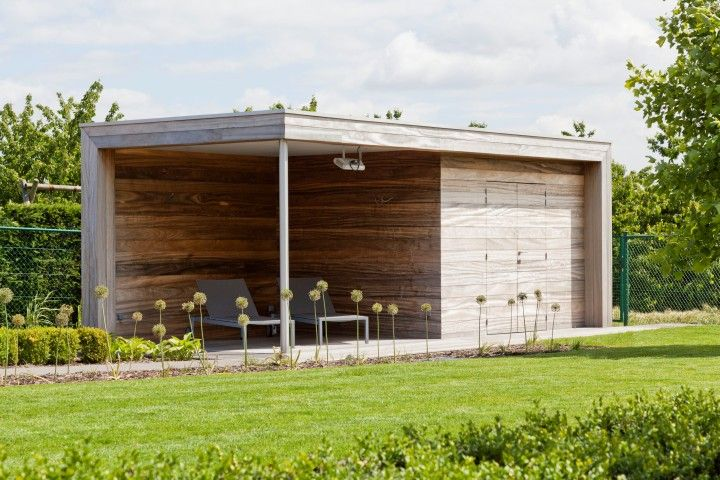 Shed with porch Moderne tuinbergingen Hout & tuinhuizen Hout > Hardhout & strak | Bogarden
