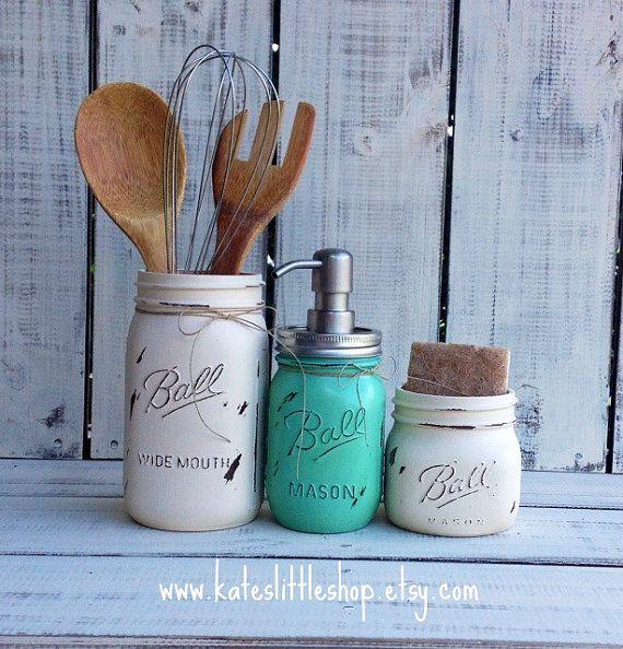 Mason Jar Kitchen Decor Set: 1000+ Images About Mason Jars On Pinterest