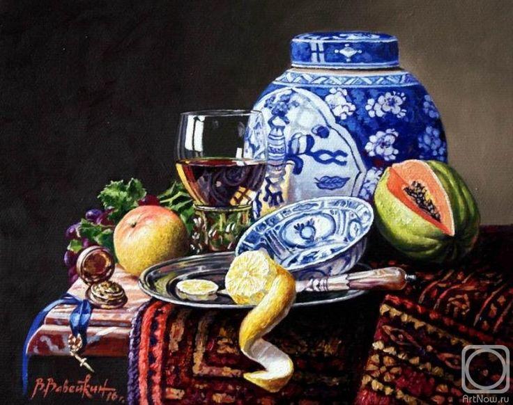 Вавейкин Виктор. Натюрморт с китайской вазой