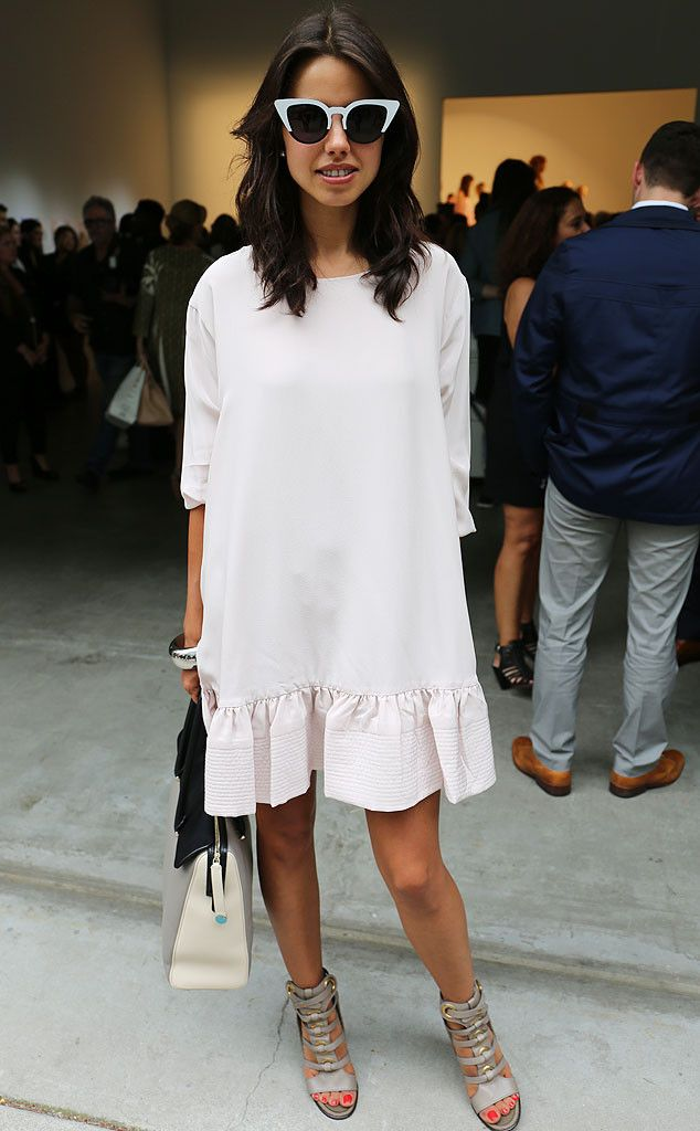 Annabelle from New York Fashion Week Spring 2015 Street Style It may be post Labor Day, but we see nothing wrong with this all-white ensemble.
