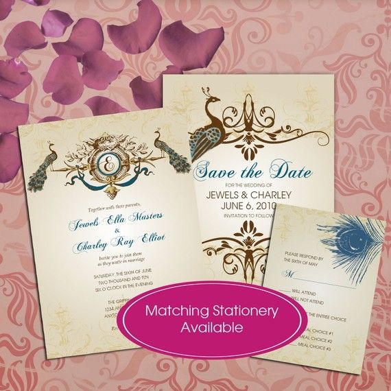 Br Handmade Wedding Stationery And Custom Invitations Announcements With Pizzazz For Your Special Occasion PEACOCK WEDDING INVITATIONS Aqua