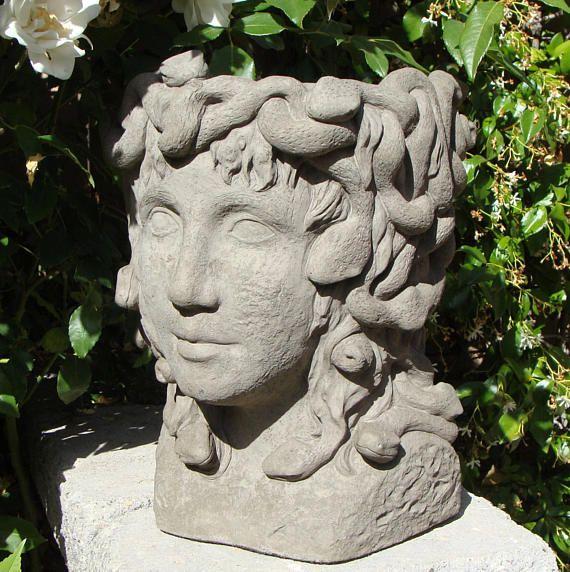 Best 20 cement flower pots ideas on pinterest concrete pots concrete planters and diy - Medusa head planter ...