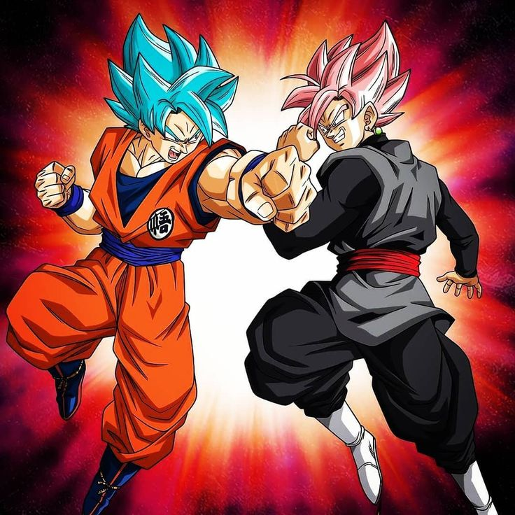 Goku (Blue) Vs Goku Black (Rosé) Dragon ball super manga
