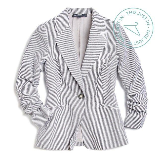 StitchFix: Joann seersucker blazer.