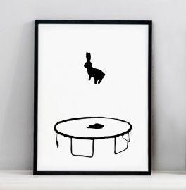 Bouncing Rabbit print (2 sizes)