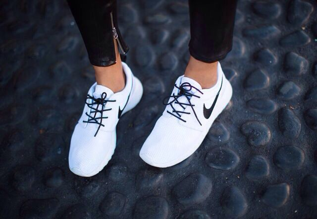 These are literally perfect | White nike roshe run ♡ Clothing, Shoes & Jewelry : Women : Shoes : Athletic : Nike http://amzn.to/2l40btB