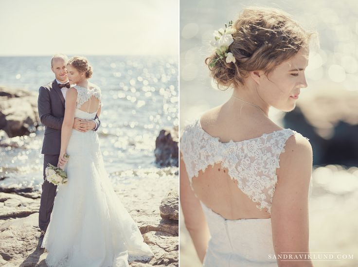 Wedding by the ocean | Wedding portraits Sweden