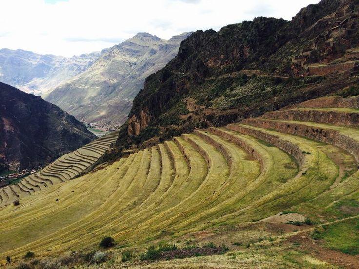 Zona arqueológica Pisac, Cuzco, Perú 2014