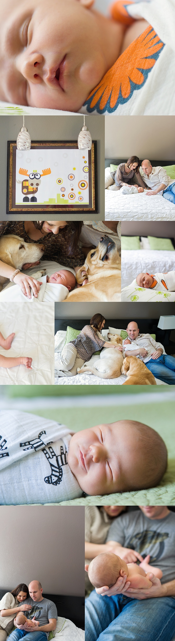 Sweet lifestyle newborn session. As newborns should be photographed