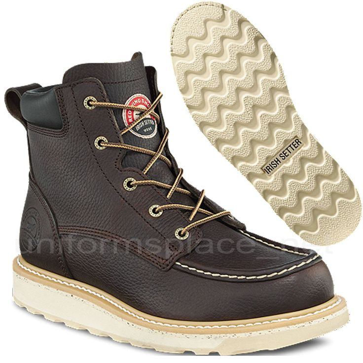 """Red Wing Irish Setter Work Boots ASHBY 6"""" Safety & Soft Toe 83606/ 83605 Moc-toe   Clothing, Shoes & Accessories, Men's Shoes, Boots   eBay!"""