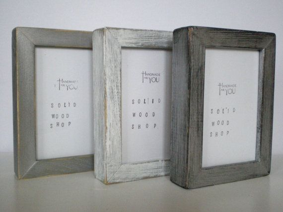 three set rustic photo frame 3 set frames a4 by solidwoodshop 2950