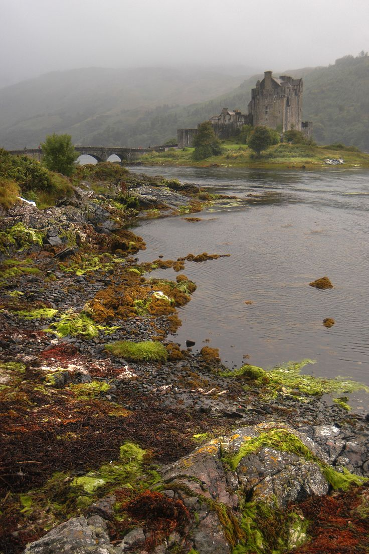 Eilean Donnain Castle sits on a small island in Loch Duich in the western Highlands of Scotland, not far from Dornie.