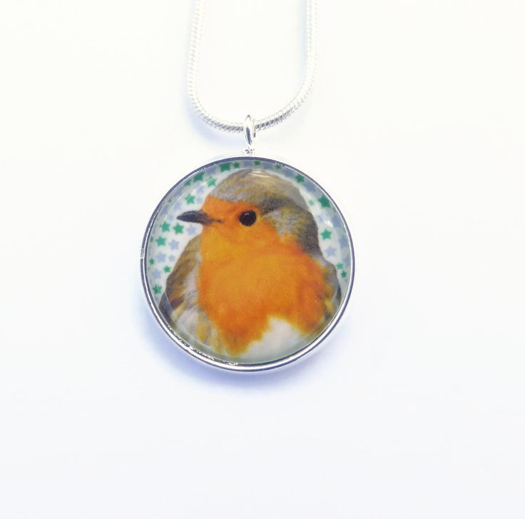 Stocking Stuffer, Gift For Her, Robin Red Breast, Robin Necklace, Robin Jewelry, Christmas Jewelry, Redbreast Pendant, Wearable Art by Larryware on Etsy