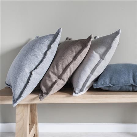 2 Tone 45x45cm Plain Cushion, Mocha