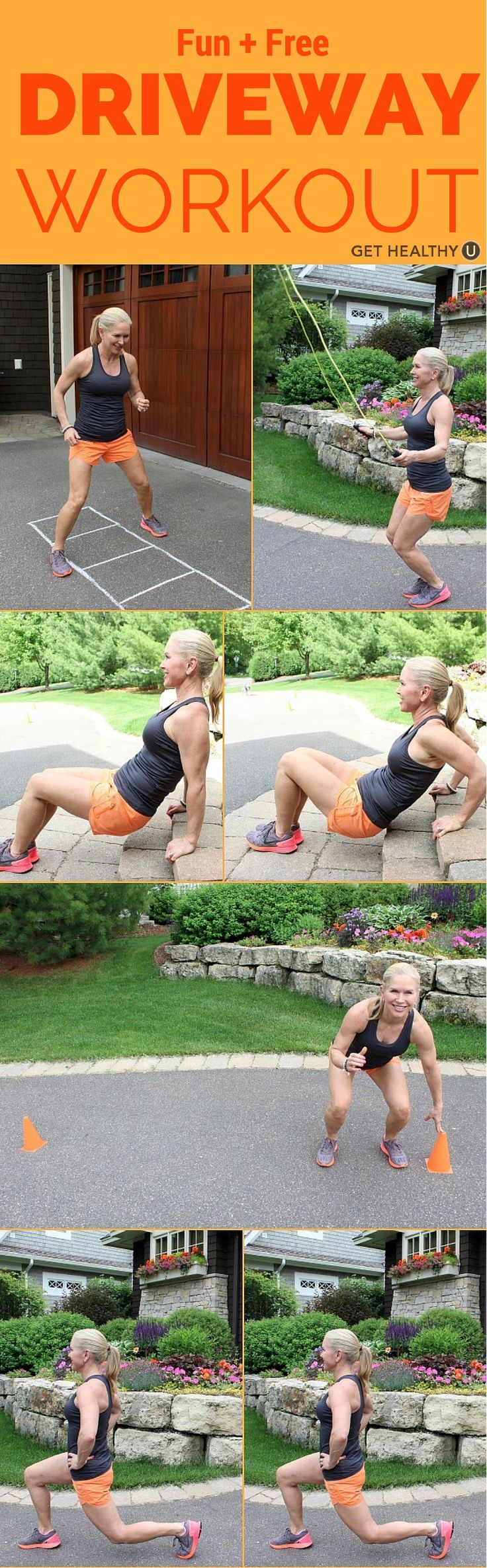 Fun and Free Driveway Workout - Get Healthy U | Workout ...
