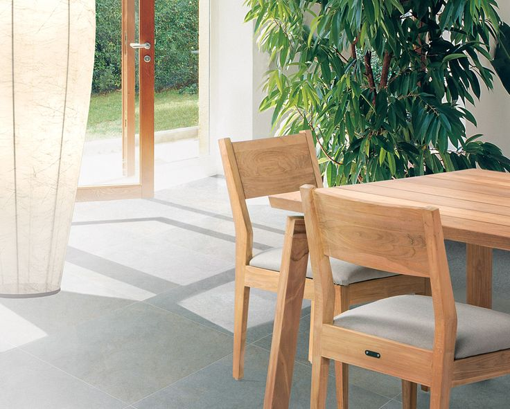 Caluco Outdoor Furniture: Sixty Collection In Natural Sanded Grade A Teak.  In Stock.