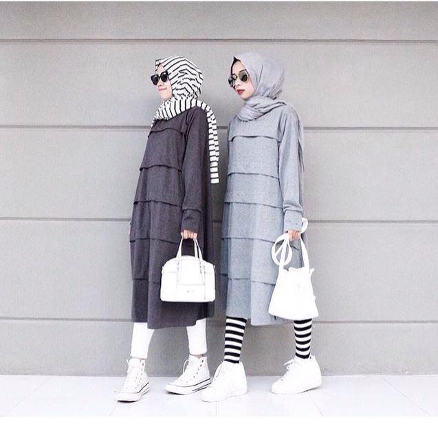 Minimal hijab chic