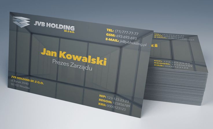 JVB Holding Business Cards - project #2