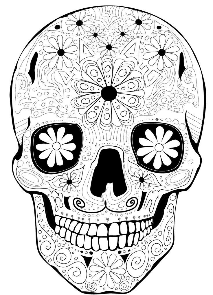 Coloring Page Dia De Los Muertos Calaca Dia De Los