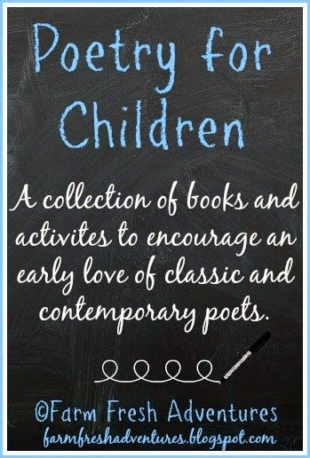 Poetry for Children: Collection of Books and Activities #poetry #poetryforkids