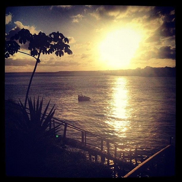 Sunset at Guarairas Lagoon