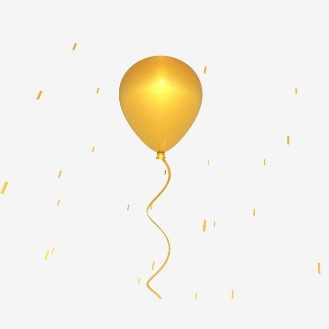 C4d ستيريو 3d عوامة بالون ذهبي بالونات عيد ميلاد Clipart بالون ملصق Png وملف Psd للتحميل مجانا Birthday Balloons Clipart Balloons Geometric Pattern Background