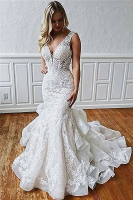 Gorgeous Ball Gown Wedding Dresses Off-the-Shoulder Floral Beading Bridal Gowns www.babyonlinewholesale.com