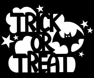 Trick-or-Treat Stencil for Pumpkin Carving - Free Download