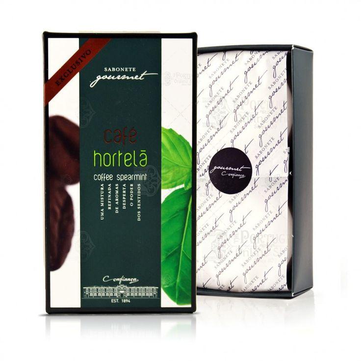 Confiança Gourmet Collection - Coffee & Spearmint Soap - 2x100g