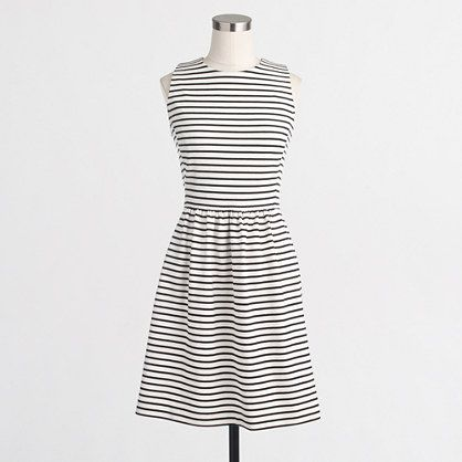 """If you don't have a striped dress, you should get one like this. Unfancy shows you how to wear it in a lot of casual ways, but it can be done that way for the work place, too. I loved mine but I """"grew"""" out of it"""