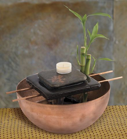 Indoor Water Features: Asian Candle Zen Fountain - Gaiam
