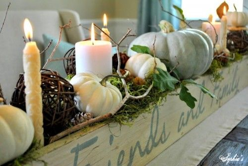 Neue Herbstdeko Ideen : Fall Dining Room Table Centerpiece