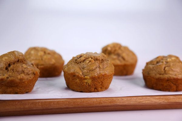 the chew | Recipe  | Daphne Oz's Banana Oat Muffins - the banana, oatmeal, and ginger help settle an upset stomach. good for pregnancy morning sickness!