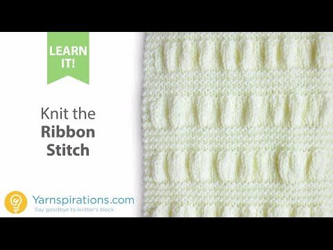 Knitting Ribbon Stitch : 1000+ images about Knitting Video & Tutorial on Pinterest Cable, Stitch...