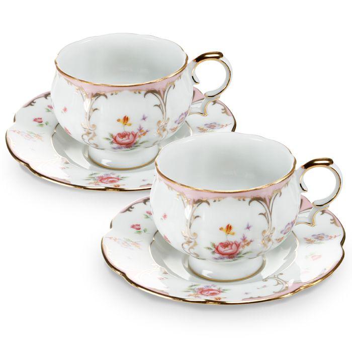 Пара чайная,1 перс, 2 пр, Розовый орнамент  3 790 руб