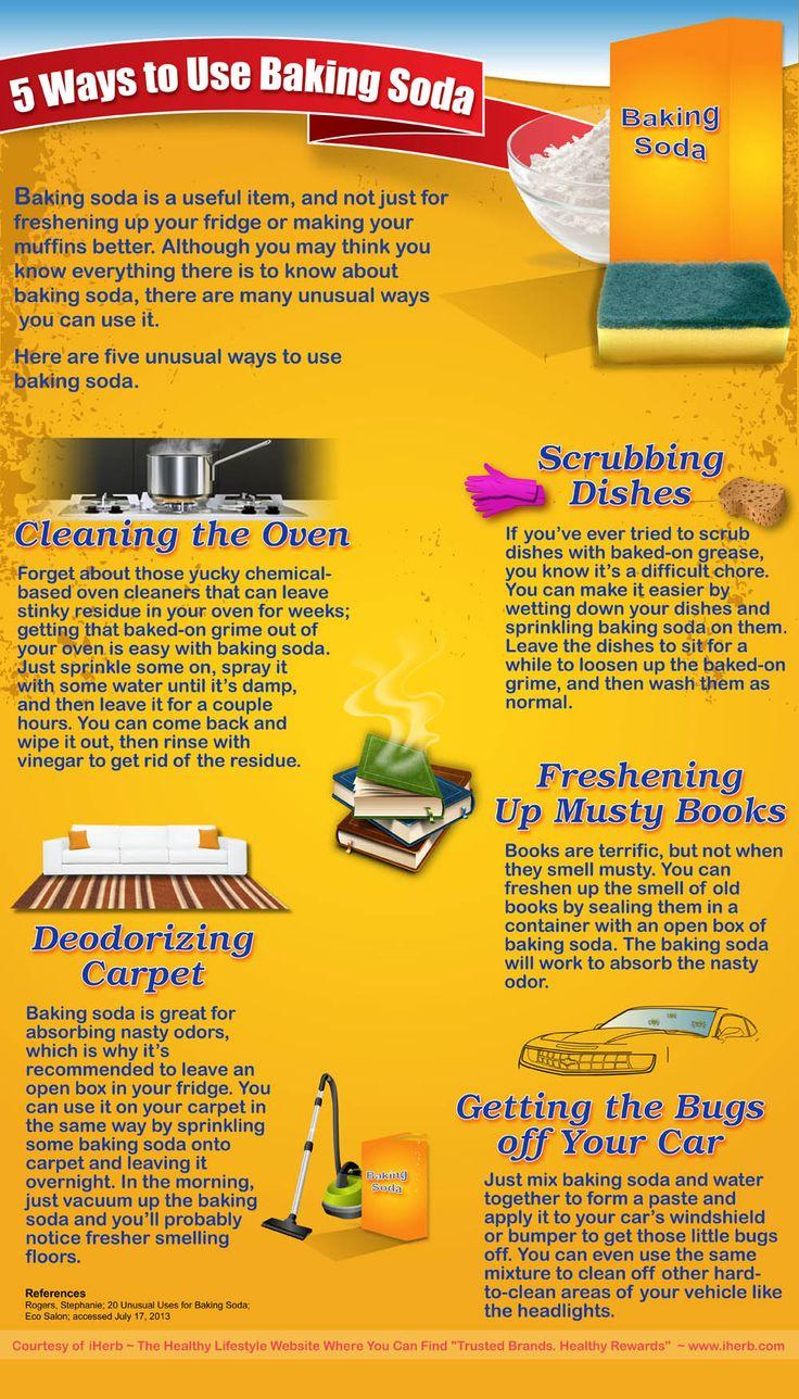 5 ways to use baking soda infographic infographics pinterest homemade goo baking soda. Black Bedroom Furniture Sets. Home Design Ideas