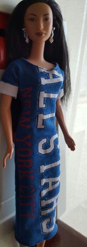 Repurpose T-dress for Barbie