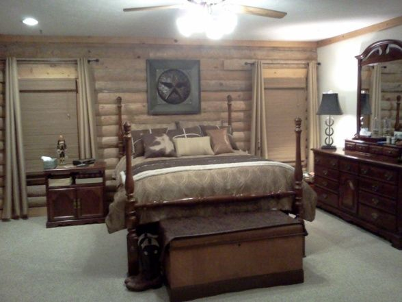 cowboy decorating ideas cowboy chic log cabin master bedroom cowboy chic cowboy chic to. Black Bedroom Furniture Sets. Home Design Ideas