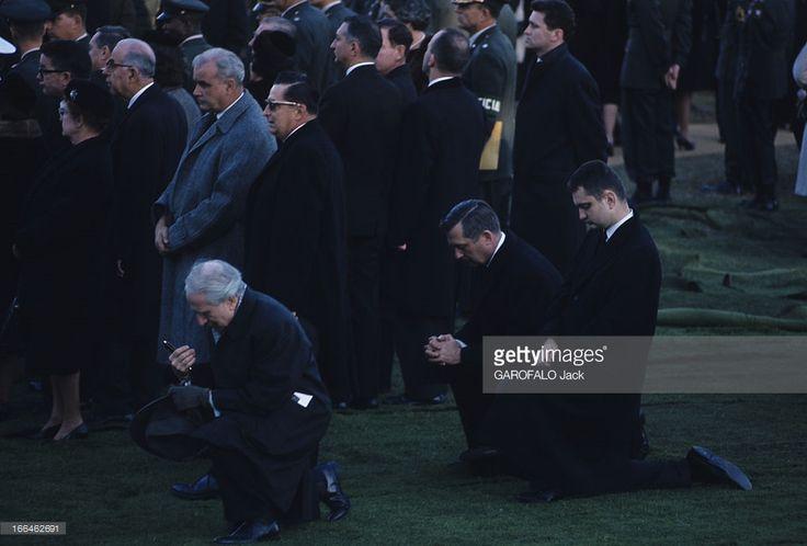 1963-11-25: JFK burial in Arlington National Cemetery.