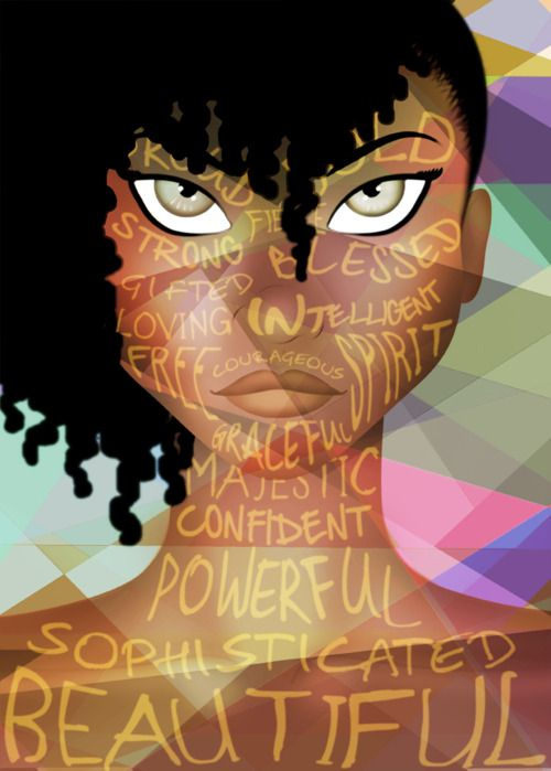 By artist ~ Monique Sterling NY, USA http://www.shorthaircutsforblackwomen.com/how-to-make-your-hair-grow-faster-longer/