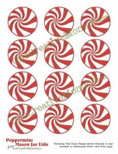 Starlight Mint Mason Jar Lids Free Printable from OneCreativeMommy.com
