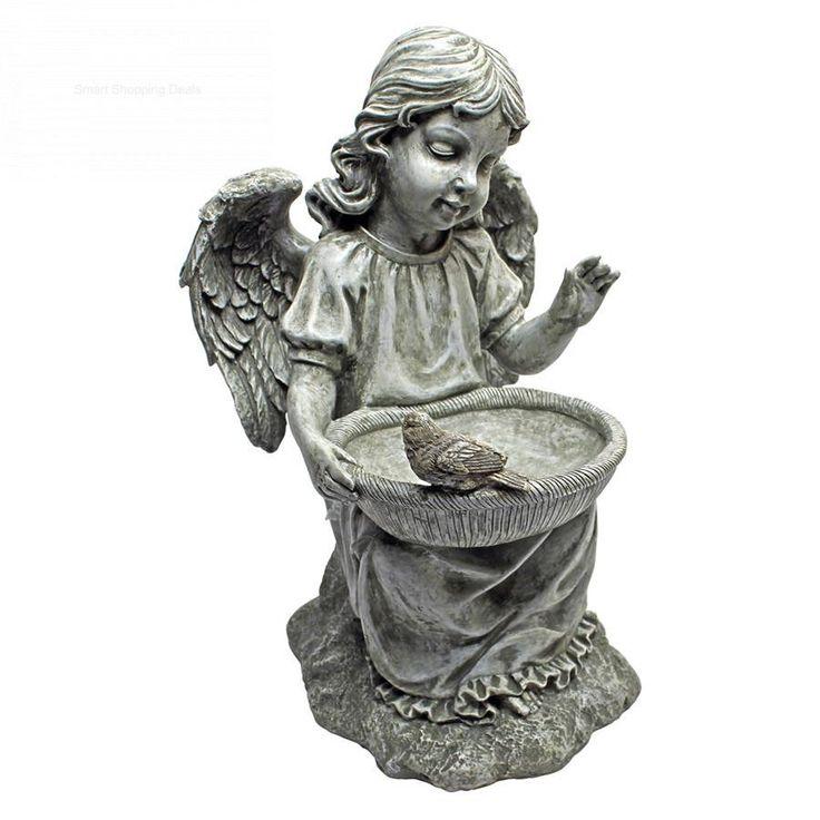 Garden Angel Statue Outdoor Statues Yard Decoration Patio Ornaments Sculpture  #DesignToscano